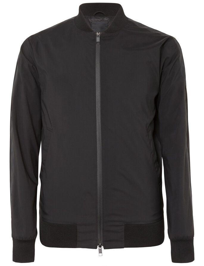 FORCE MATT NYLON JACKET, Black, large