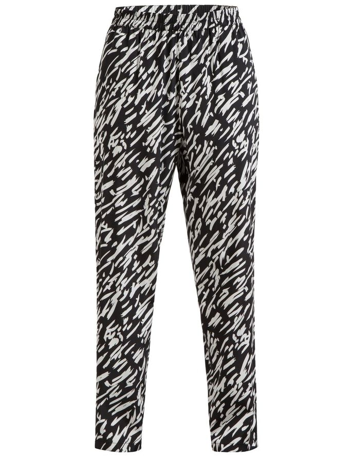 SPRING DRAPY SILK TROUSERS, White Stroke, large