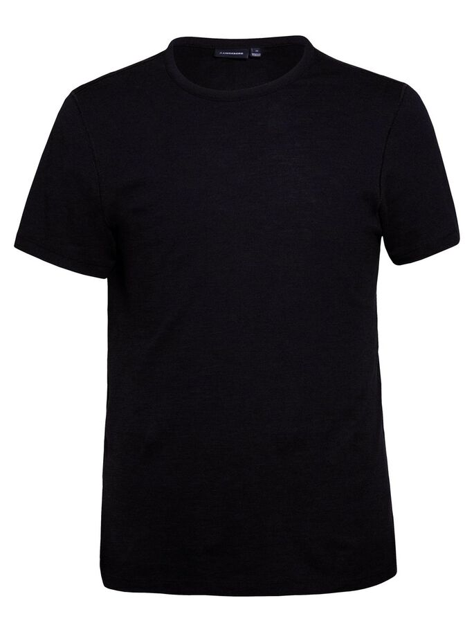 SILO SLUB PIQUE T-SHIRT, Black, large