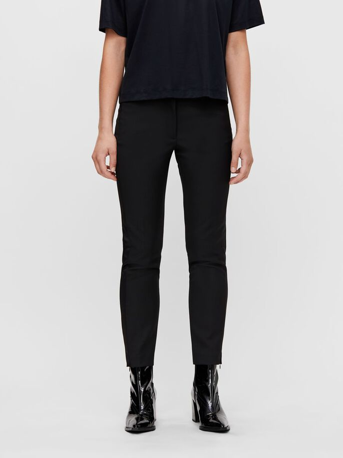 KATHY SLIM TROUSERS, Black, large