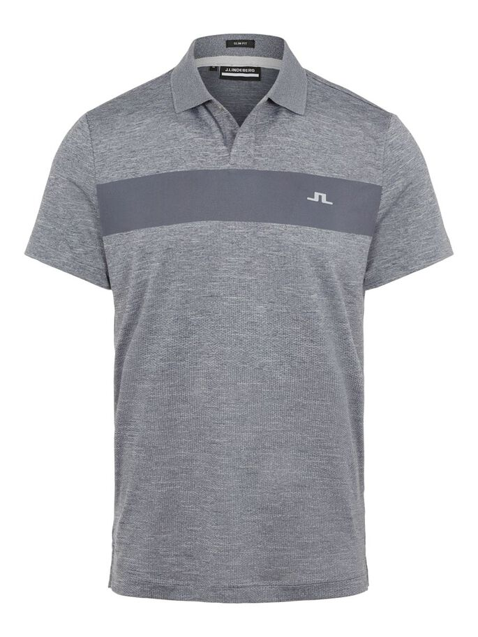 JAY SLIM FIT POLO SHIRT, Stone Grey Melange, large