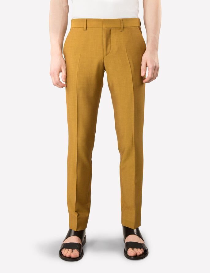 PAULIE KINAIR SUIT TROUSERS, Yolk Yellow, large
