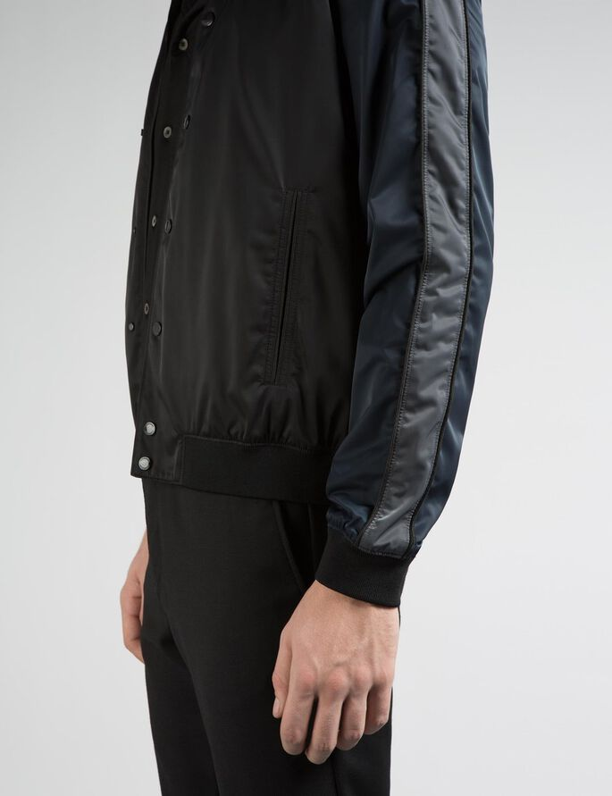 THOMAS 72 BOMBER SATIN JACKET, Black, large