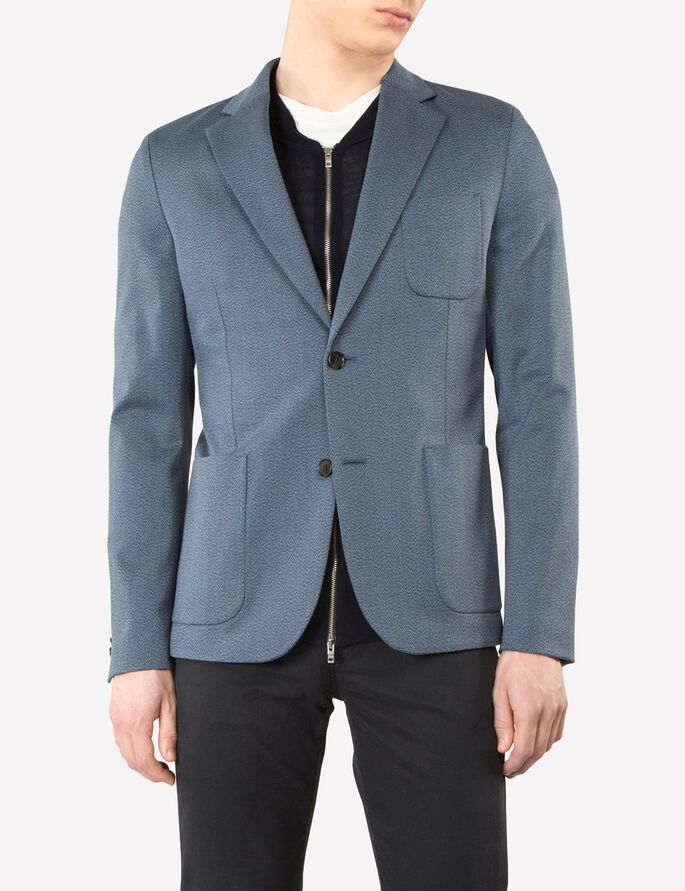 PIEMONTE MULTICOLOUR BLAZER, Blue, large