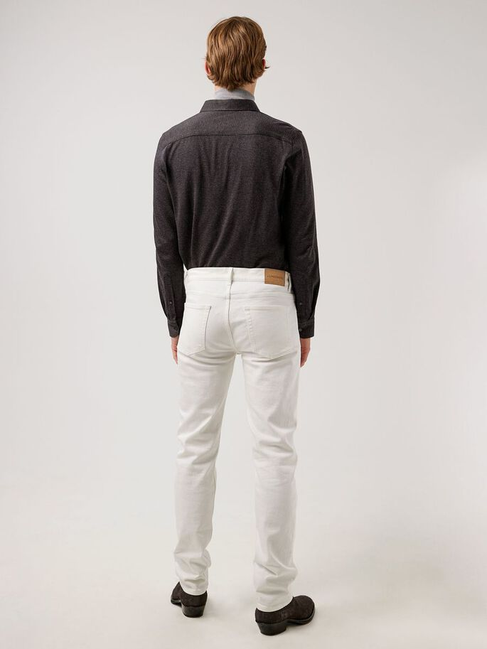 CODY SOLID STRETCH JEAN, White, large