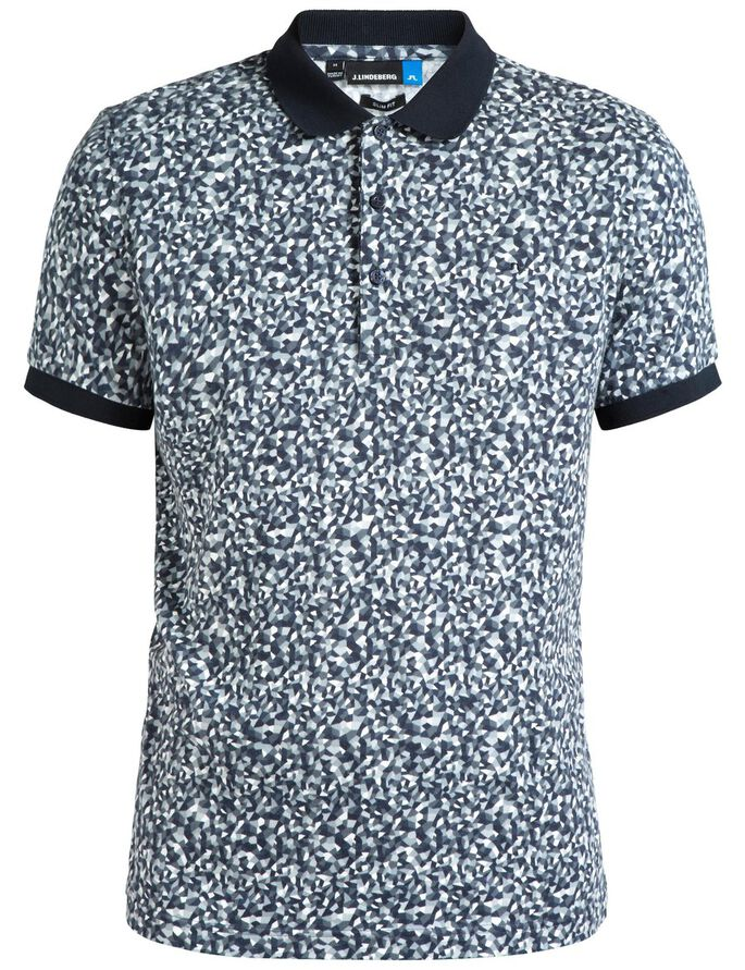 KALLE SLIM SUBLIME PIQUE POLO SHIRT, Mosaic Navy, large