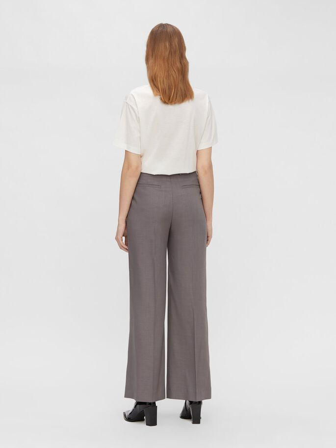 KORI WIDE MELANGE TROUSERS, Melrey Crosshatch, large