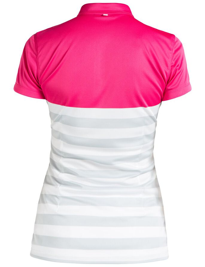 CAROLINE TX JERSEY POLO SHIRT, Pink Intense, large