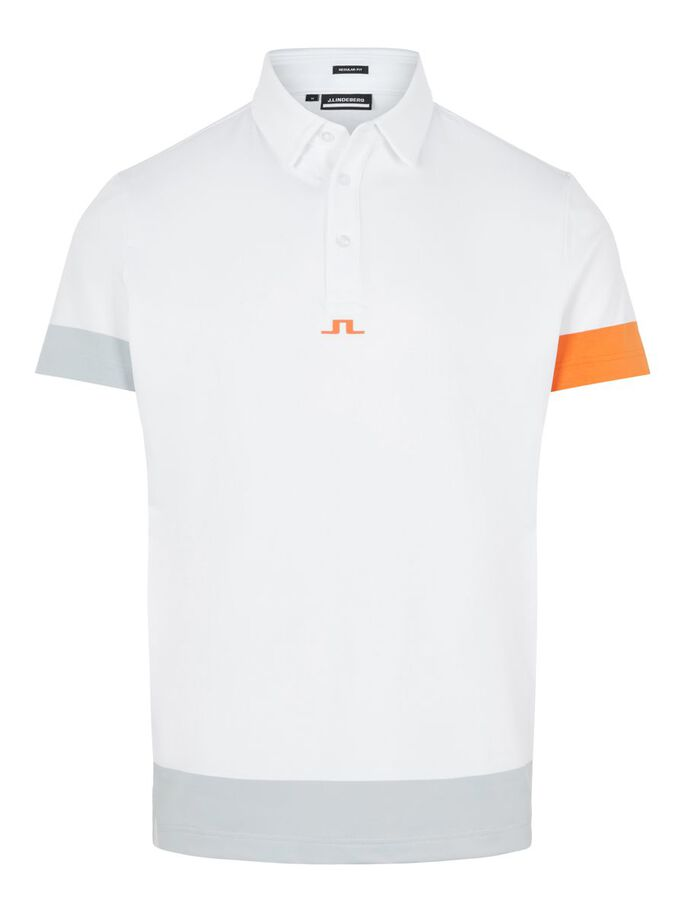 PER REGULAR FIT POLO, White, large
