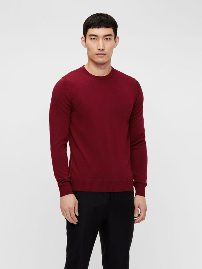 LYLE MERINO SWEATER, Chili Red, large