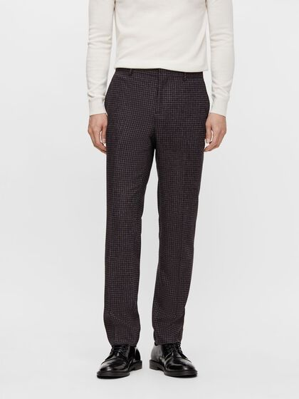LEO HOUNDSTOOTH TROUSERS