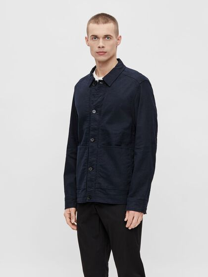 ERIC COTTON LINEN OVERSHIRT