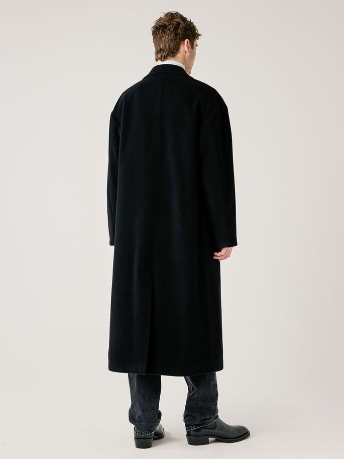 WILLY WOOL COAT, Black, large