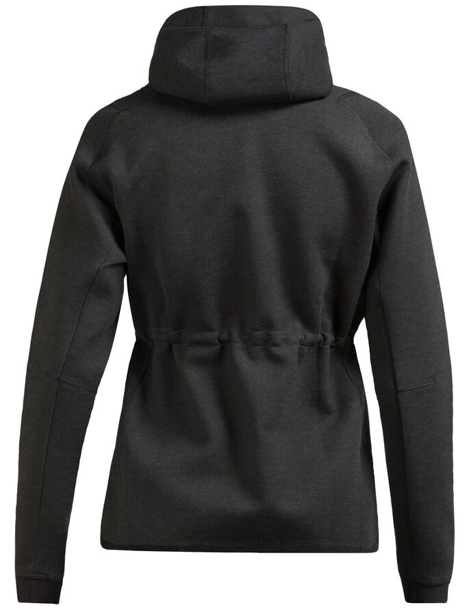 ATHLETIC TECH SWEAT HOODIE JACKET, Dk Grey Melange, large
