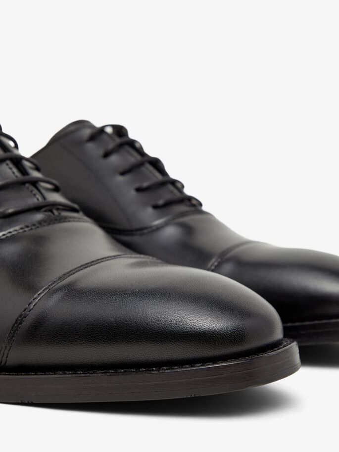 HOPPER LEATHER OXFORD SHOES, Black, large