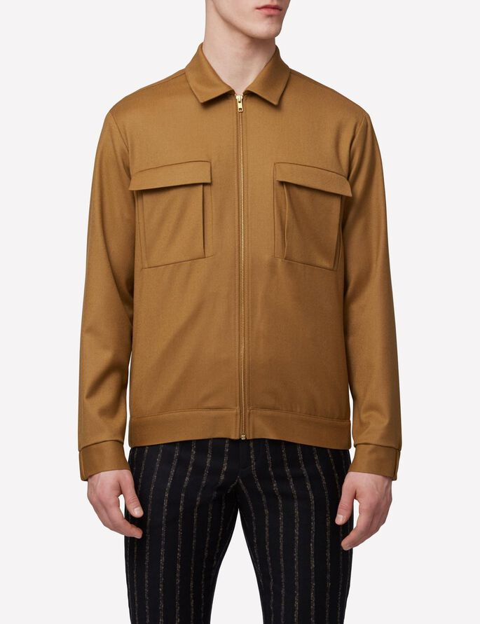 JASON ZIP CASHMERE LIGHT JACKET, Dk Mustard, large