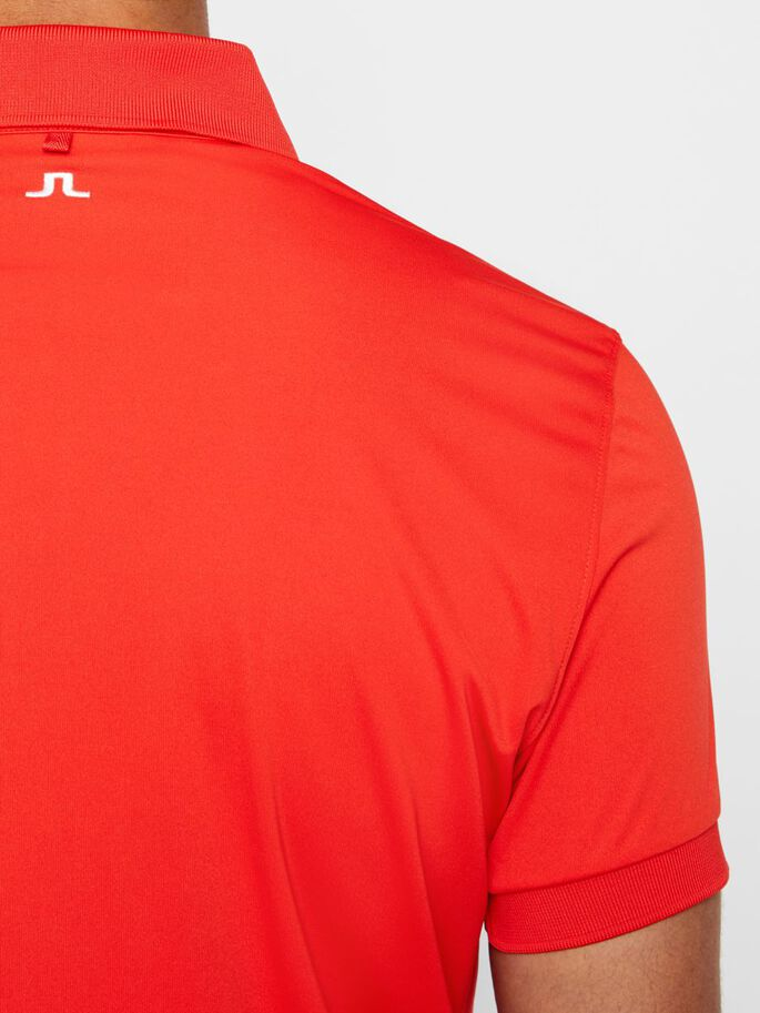 TOUR TECH SLIM TX JERSEY POLO, Racing Red, large