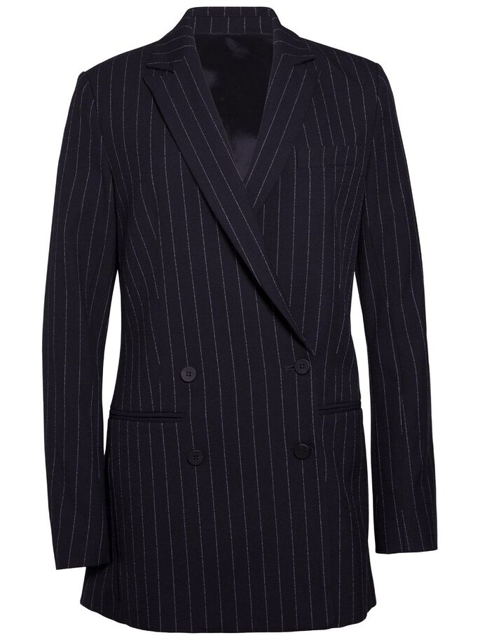 PEARL FAB RAYURES FINES BLAZER, Navy, large