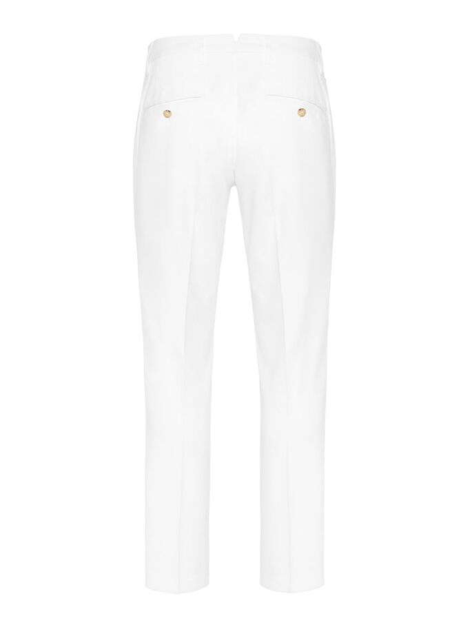 ELLOTT REGULAR MICRO STRETCH TROUSERS, White, large