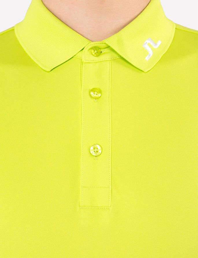 TOUR TECH SLIM TX JERSEY POLO SHIRT, Lime, large