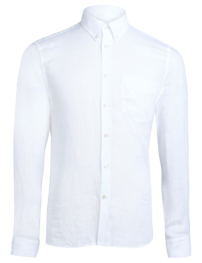 DANIEL BUTTON-DOWN STRETCH OXFORD SHIRT, White, large