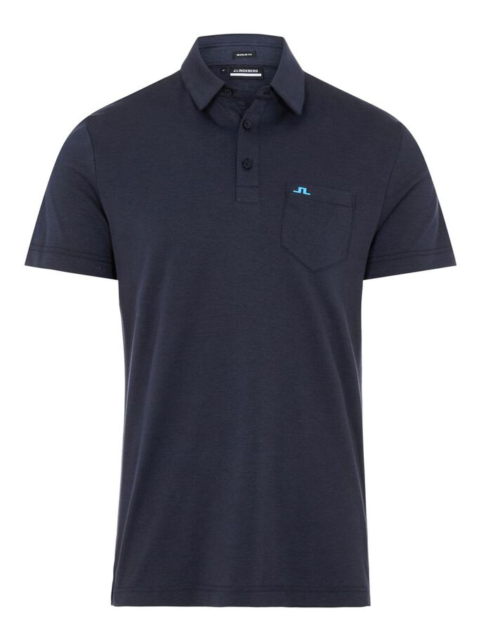 RAYAN REGULAR FIT POLOSHIRT, Navy Melange, large