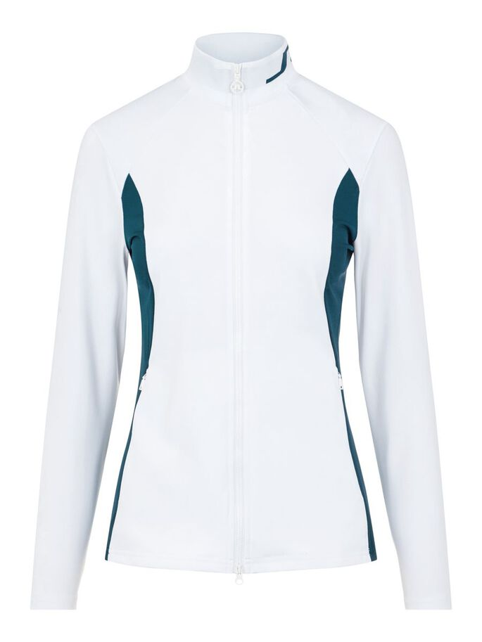 THERESE MID LAYER JACKET, White, large