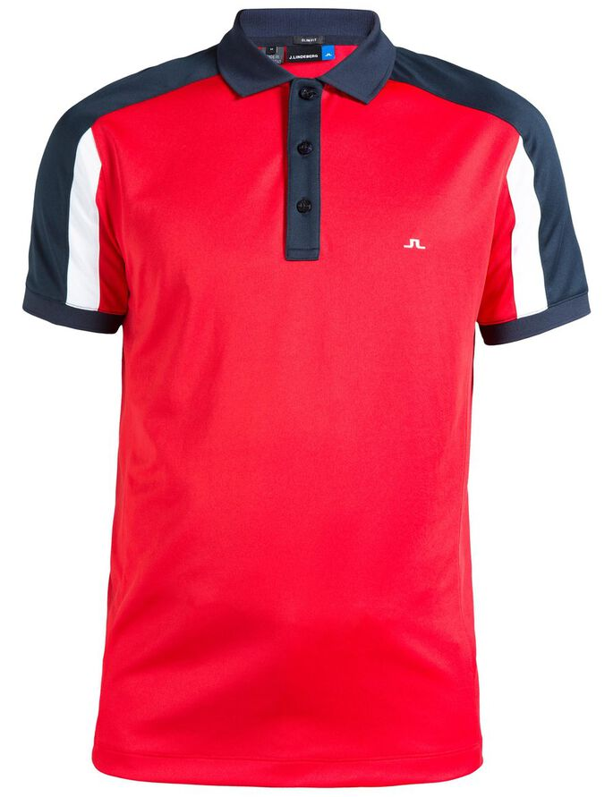 JOEL SLIM FIELDSENSOR 2.0 POLO SHIRT, Red Intense, large