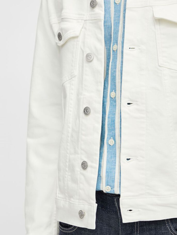 RAN STRETCH DENIM JACKET, Cloud White, large