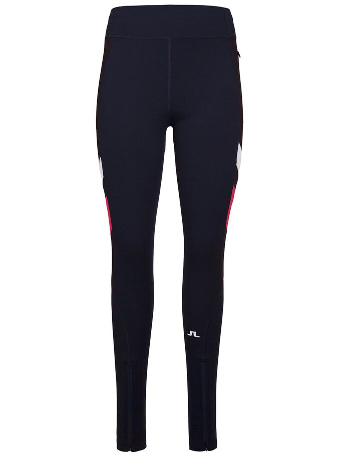 RUNNING COMPRESSION POLY TIGHTS, JL Navy, large