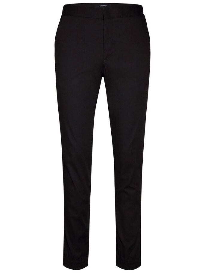 SASHA COTTON PIQUE TROUSERS, Black, large