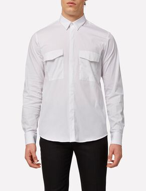 DAVID TECHNISCH POPELINE BUTTONDOWN OVERHEMD