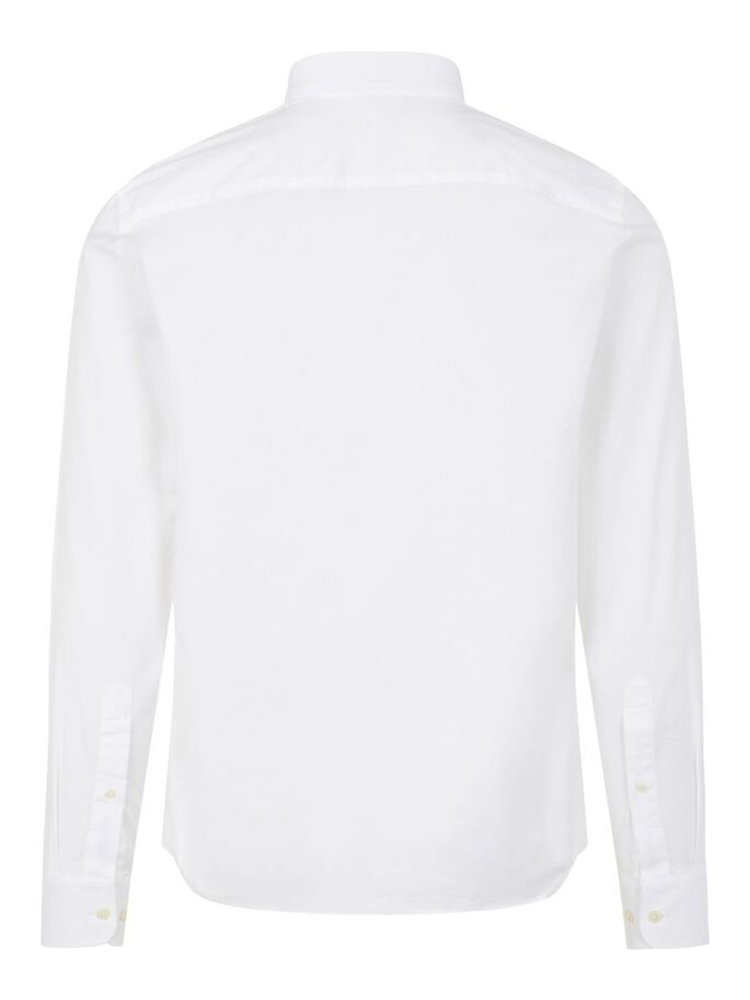 STRETCH OXFORD SLIM FIT HEMD, White, large