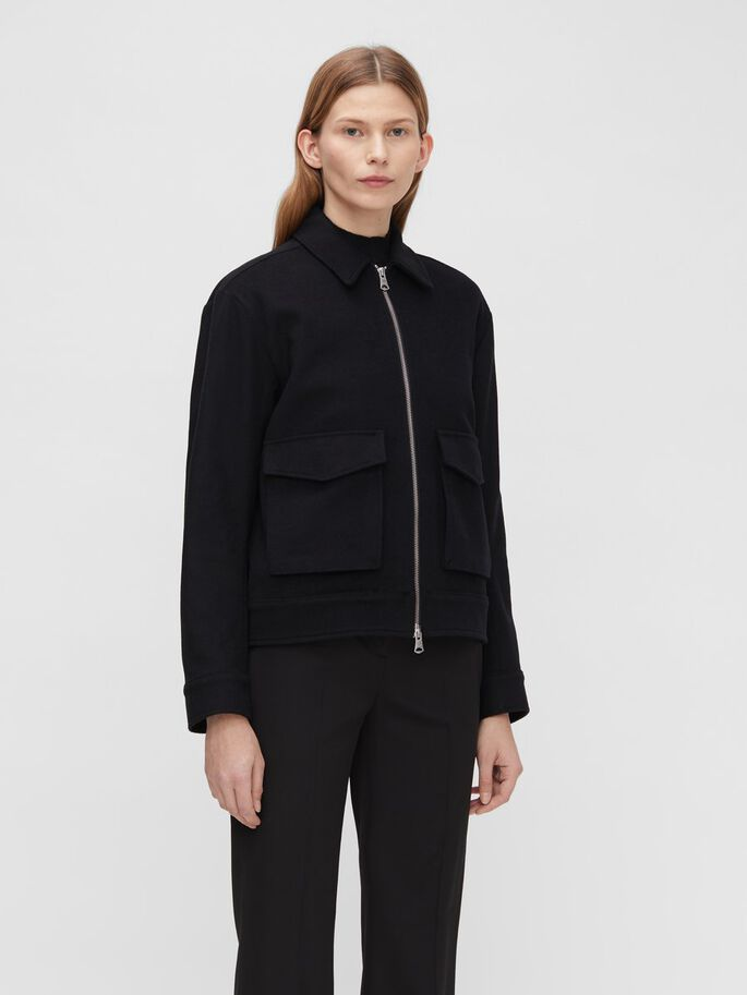 AUDREY WOLLEN JAS, Black, large