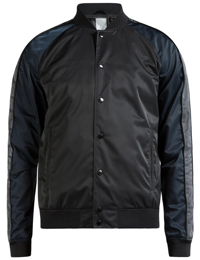 THOMAS 72 BOMBER-SATIN- JACKE, Black, large