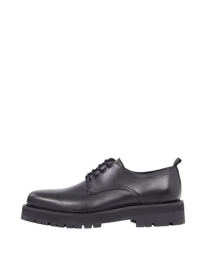 LEATHER CHAUSSURES DERBY