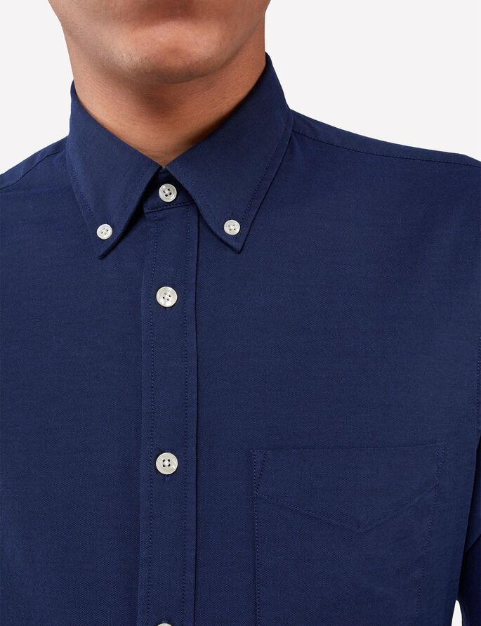 DANIEL BUTTON-DOWN STRETCH OXFORD HEMD, Navy, large