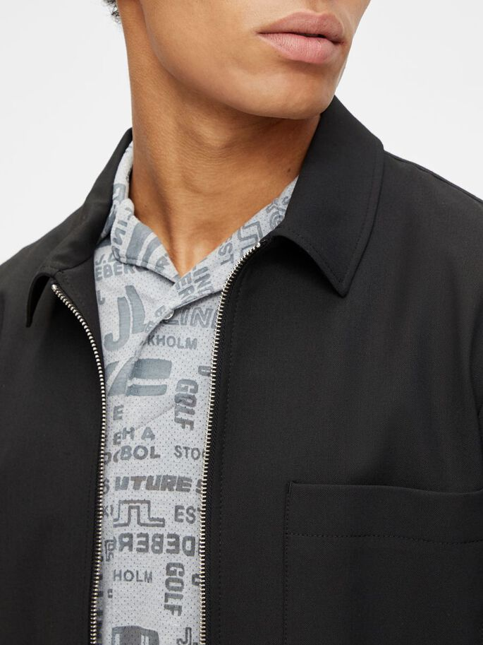 JASON STRETCH TWILL OVERSHIRT, Black, large