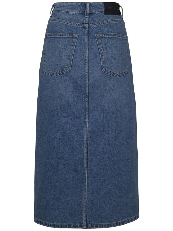 CONEI POND DENIM SKIRT, Mid Blue, large