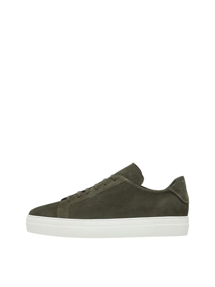 SIGNATURE SUEDE SNEAKERS, Lake Green, large