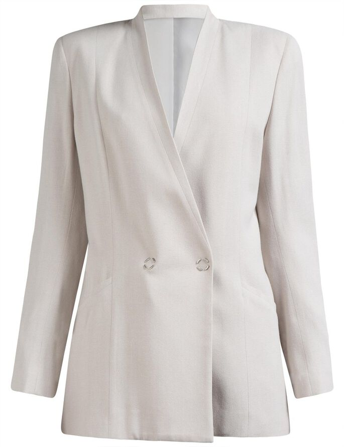 SKYE TECH CREPE BLAZER, Lt Grey/Beige, large