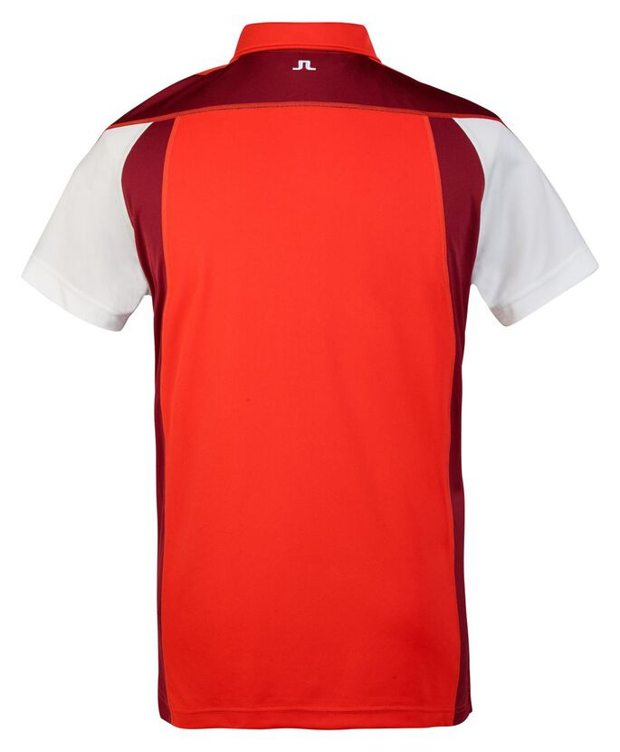 SANDRO REG TX JERSEY POLO SHIRT, Racing Red, large