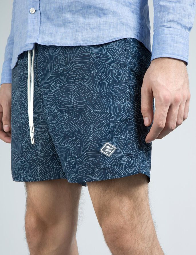 BANKS PATTERN BADESHORTS, Mid Blue, large
