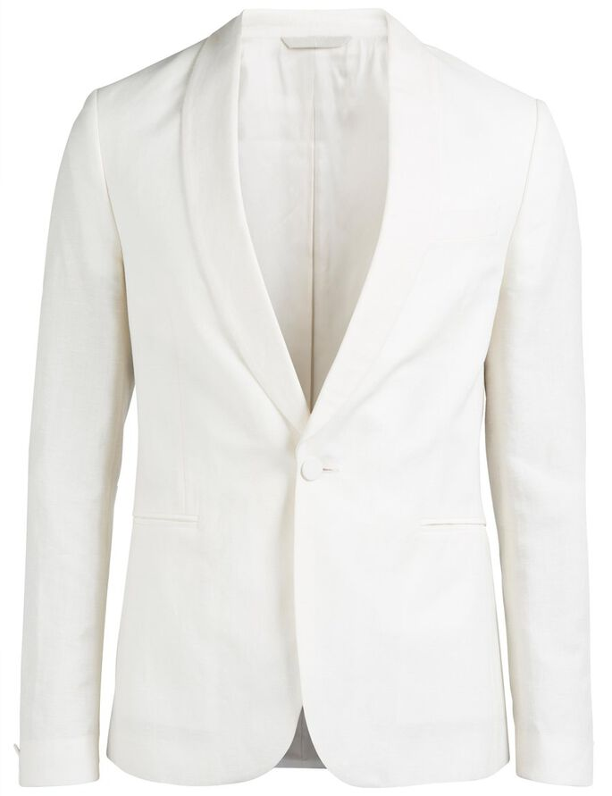 SAVILE DRESSED LINEN BLAZER, Off White, large