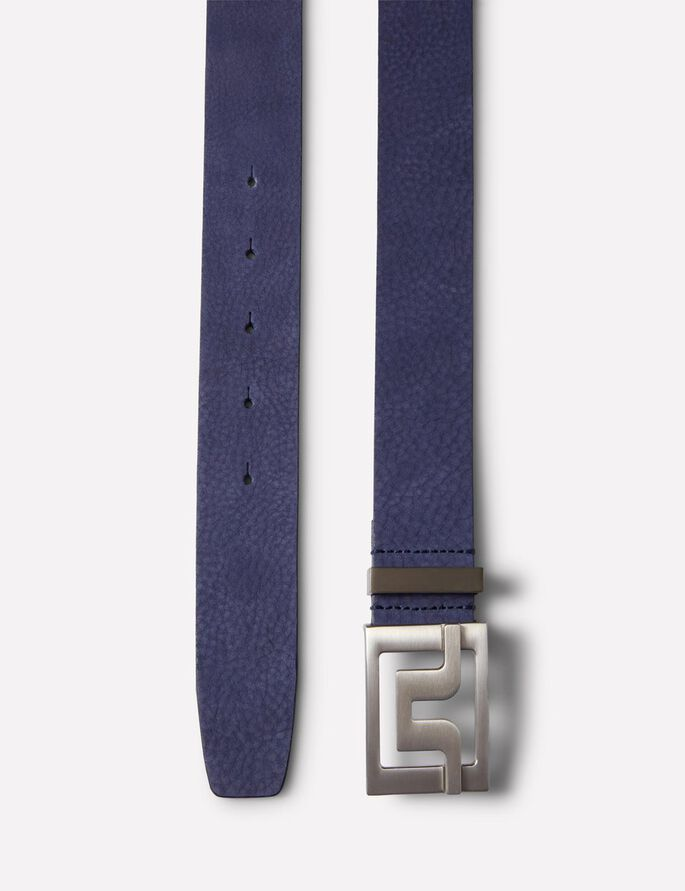 SLATER 40 BRUSHED LEATHER BELT, Strong Blue, large