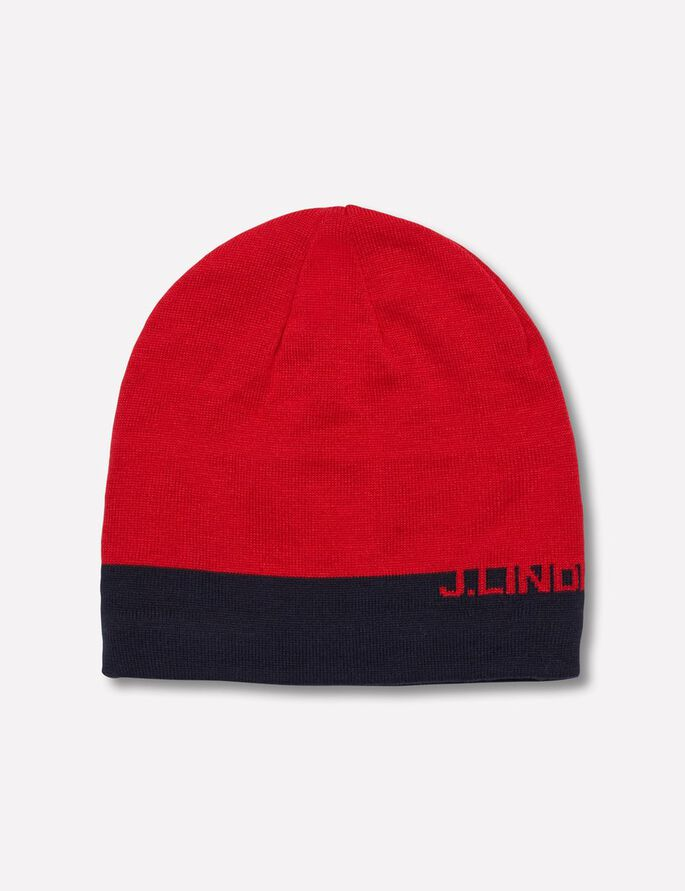 AELLO STRIPED BEANIE, Racing Red, large