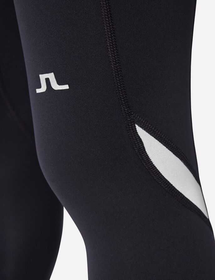 RUNNING COMPRESSION POLY TIGHTS, Black, large