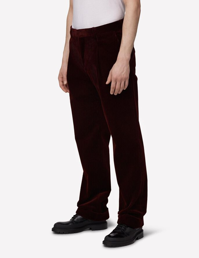 DROPPER WHALES TROUSERS, Dusty Burgundy, large