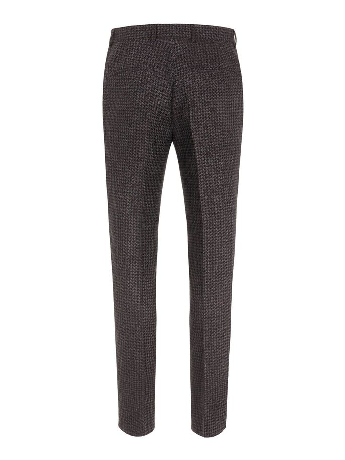 LEO HOUNDSTOOTH TROUSERS, Chili Red, large