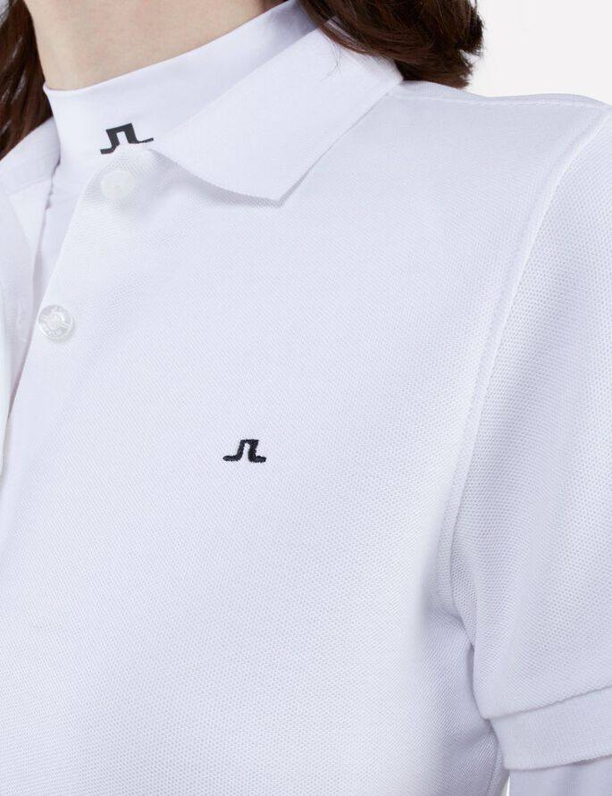 PATSY JL PIQUE POLO SHIRT, White, large